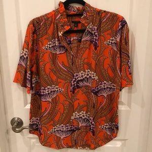 Ann Taylor silk floral blouse